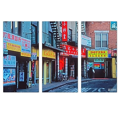 Ready2hangart 'Doyers Street' by Bruce Bain 3 Piece Photographic Print on Wrapped Canvas Set