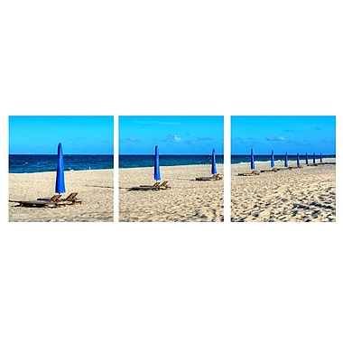 Ready2hangart 'Beach Ready' by Bruce Bain 3 Piece Photographic Print on Wrapped Canvas Set