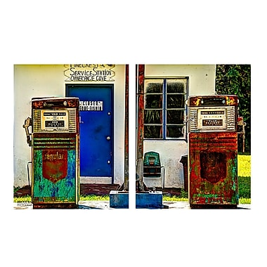 Ready2hangart 'Old Gas' by Bruce Bain 2 Piece Photographic Print on Wrapped Canvas Set