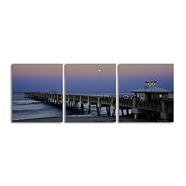 Ready2hangart 'Blue Pier II' by Bruce Bain 3 Piece Photographic Print on Wrapped Canvas Set