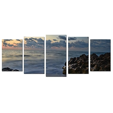 Ready2hangart Rocky Sunset by Christopher Doherty 5 Piece Photographic Print on Canvas Set