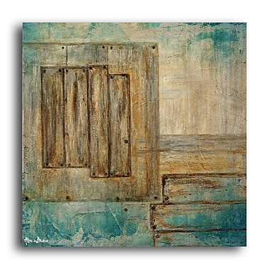 Ready2hangart 'Bueno Exchange XXIII' Framed Painting Print on Wrapped Canvas