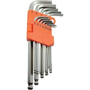 "Dynamic Tools 13 Piece SAE Ball End Long Hex Key Set, 3/64"" - 3/8"""