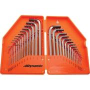 Dynamic Tools – Jeu de 30 clés hexagonales métrique et SAE, 028 po - 3/8 po, 7 mm - 10 mm