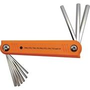 Dynamic Tools – Jeu de 9 clés hexagonales SAE pliables, 5/64 po - 1/4 po