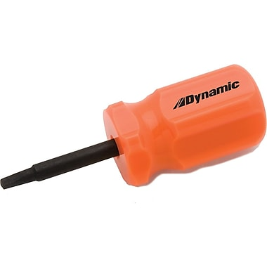 Dynamic Tools #1 Square Recess Stubby Screwdriver, Acetate Handle