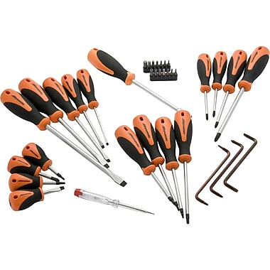 Dynamic Tools 36 Piece Screwdriver & Bit Set, Comfort Grip Handles