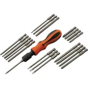 Dynamic Tools 21 Piece Screwdriver Set With Removable Bits, Comfort Grip Handle