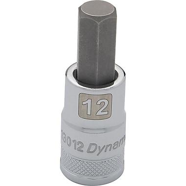 Dynamic Tools – Douille avec fini chromé à mèche de longueur standard, prise de 1/2 po et pointe hex de 8 mm