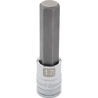 Dynamic Tools – Douille avec fini chromé à mèche longue, prise de 1/2 po et pointe hex de 6 mm