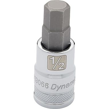 Dynamic Tools – Douille SAE à tête hexagonale de 1/2 po, longueur standard de mèche de 5/8 po, fini chromé
