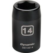 Dynamic Tools – Douille pour clé à choc, 6 pans, longueur standard de 32 mm, métrique, à prise de 1/2 po