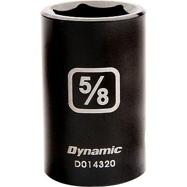 Dynamic Tools – Douille à choc de longueur standard de 1/4, SAE 6 points avec prise de 3/2 po