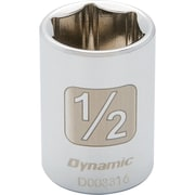 "Dynamic Tools 1/4"" Drive 6 Point SAE, 5/32"" Standard Length, Chrome Finish Socket"