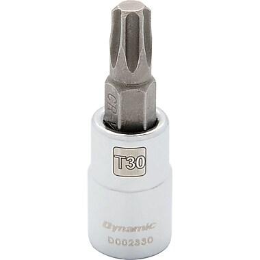 Dynamic Tools – Douille TorxMD à prise de 1/4 po, longueur standard, fini chromé, embout TorxMD T10