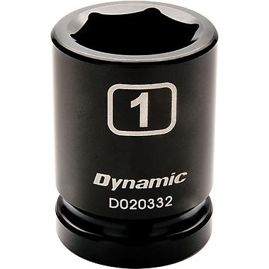 Dynamic Tools – Douille à choc SAE de longueur standard de 1 1/8 po, 6 points avec prise de 3/4 po