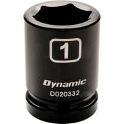"Dynamic Tools 3/4"" Drive 6 Point SAE, 13/16"" Standard Length, Impact Socket"
