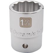 Dynamic Tools – Douille SAE de longueur standard de 1 13/16 po, 12 points avec prise de 3/4 po, fini chromé