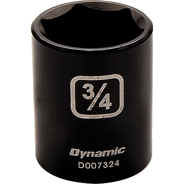 Dynamic Tools – Douille à choc de longueur standard de 9/16, SAE 6 points avec prise de 3/8 po