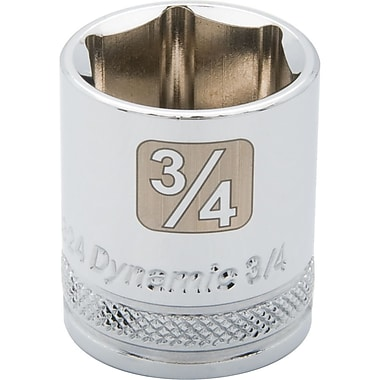 Dynamic Tools – Douille SAE de longueur standard de 13/16 po, 6 points avec prise de 3/8 po, fini chromé