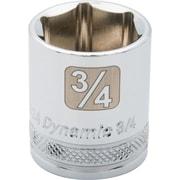 Dynamic Tools – Douille avec fini chromé SAE de longueur standard de 13/16 po, 12 points avec prise de 3/8 po