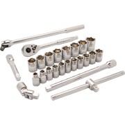 Dynamic Tools – Ensemble de 25 pièces, 6 pans standards, à prise de 1/2 po, pour clés à chocs métriques 10 mm à 28 mm