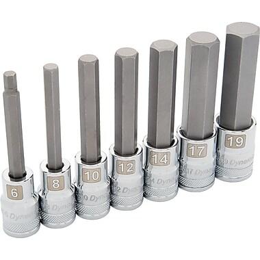 Dynamic Tools – Ensemble de 7 douilles métriques hexagonales, prise de 1/2 po, standards et profondes, 6 à 19mm