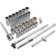 Dynamic Tools – Ensemble de 38 pièces, douilles 6 pans SAE standards/profondes, à prise de 1/2 po, 3/8 po à 1 5/16 po