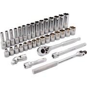 Dynamic Tools – Ensemble de douilles métriques standard/profondes, de 6 points avec prise de 3/8 po, 35 pièces, 6 à 20 mm