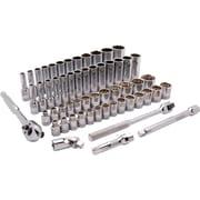 Dynamic Tools – Ensemble de 57 douilles à 12 pans de 3/8 po, standard et profondes, SAE/métrique, 1/4 po - 1 po, 6 mm - 19 mm