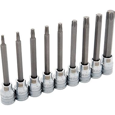 Dynamic Tools – Ensemble de 9 douilles Torx® longues, à prise de 3/8 po, T15 à T55