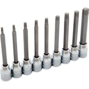 "Dynamic Tools 3/8"" Drive 9 Piece Long, Torx® Socket Set, T15 - T55"