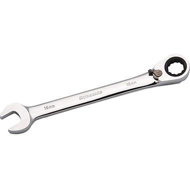 Dynamic Tools 15mm Reversible Combination Ratcheting Wrench