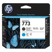 HP 773 Matte Black and Cyan Designjet Printhead Cartridge (C1Q20A)