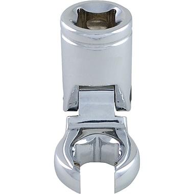 Dynamic Tools – Douille à écrou évasé en patte d'oie à fini chromé, tête flexible de 17 mm, métrique, pris de 3/8 po