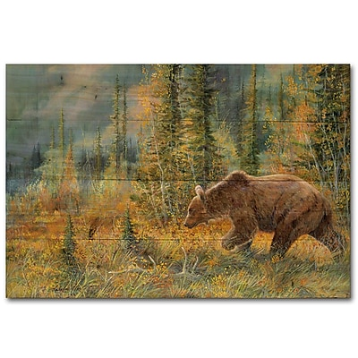 WGI GALLERY The Grizzly Walk by Valeria Yost Painting Print Plaque; 30'' H x 40'' W x 1'' D