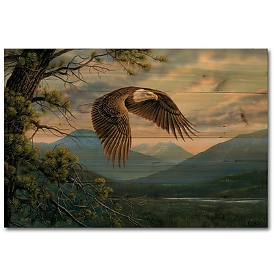 WGI GALLERY Majestic Moment by Rosemary Millette Graphic Art Plaque; 4'' H x 12'' W x 0.5'' D