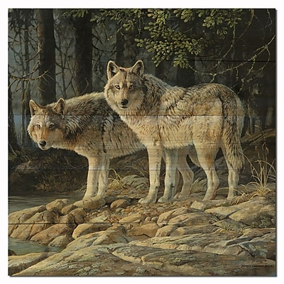 WGI GALLERY Shades by Persis Clayton Weirs Painting Print Plaque in Gray; 24'' H x 24'' W x 1'' D