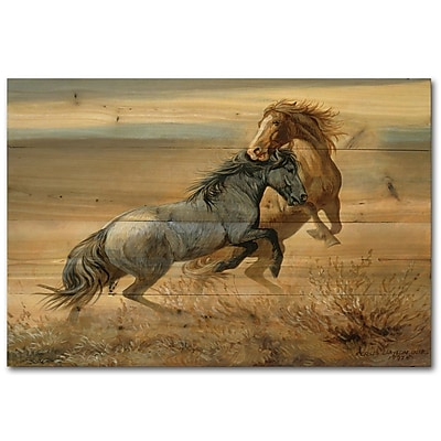 WGI GALLERY Challenged by Persis Clayton Weirs Painting Print Plaque; 8'' H x 12'' W x 1'' D