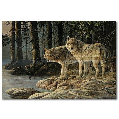 WGI GALLERY Shades by Persis Clayton Weirs Painting Print Plaque in Gray; 8'' H x 24'' W x 1'' D