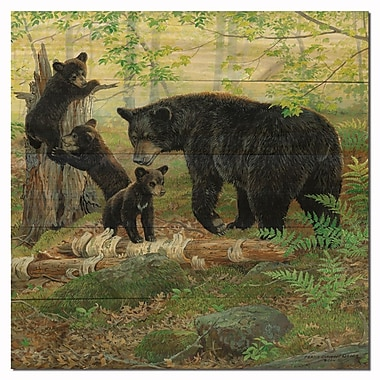 WGI GALLERY Playtime Bears by Persis Weirs Painting Print Plaque; 12'' H x 12'' W x 1'' D