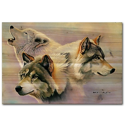 WGI GALLERY Wolves Are Forever by Bob Quick Painting Print Plaque; 8'' H x 12'' W x 1'' D