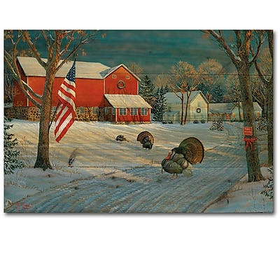 WGI GALLERY The Good Old Barn by Sam Timm Painting Print Plaque; 30'' H x 40'' W x 1'' D