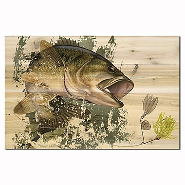 WGI GALLERY Bass by David Wenzel Painting Print Plaque; 8'' H x 12'' W x 1'' D