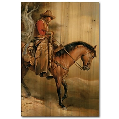 WGI GALLERY Long Road Home by Russ Docken Painting Print Plaque; 24'' H x 16'' W x 1'' D