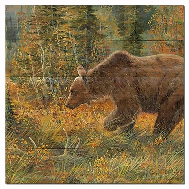 WGI GALLERY The Grizzly Walk by Valeria Yost Painting Print Plaque; 12'' H x 12'' W x 1'' D