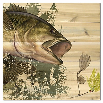 WGI GALLERY Bass by David Wenzel Painting Print Plaque; 24'' H x 24'' W x 1'' D