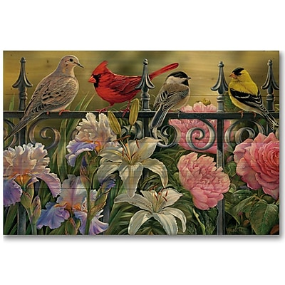 WGI GALLERY Songbird Elements by Rosemary Millette Graphic Art Plaque; 30'' H x 40'' W x 1'' D