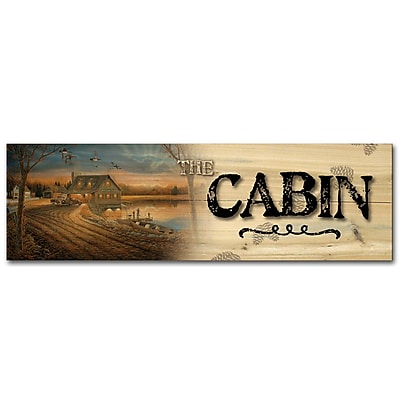 WGI GALLERY The Cabin Angler's Inn by Sam Timm Graphic Plaque; 4'' H x 12'' W x 0.5'' D