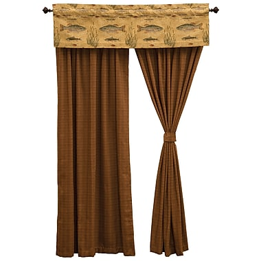 Wooded River Reel Time Curtain Panel